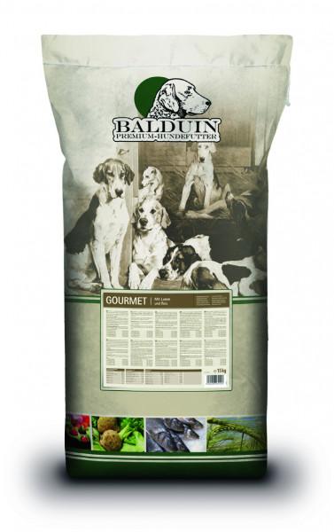 Balduin Premium-Hundefutter (Trockenfutter): Gourmet Lamm & Reis - getreidefrei - 15 kg