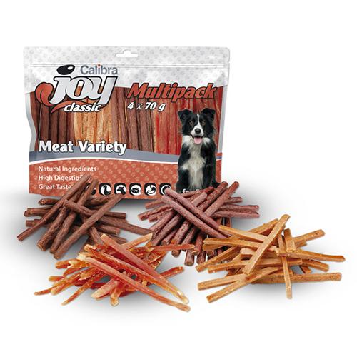 Calibra JOY Dog / Multipack Meat Variety Mix - Snacks 4 x 70g
